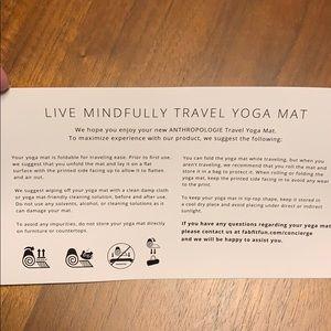 Anthropologie Other - Anthropologie Travel Yoga Mat